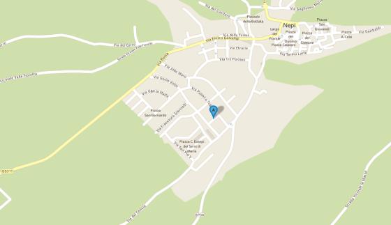 mappa di Nepi con via Adolini