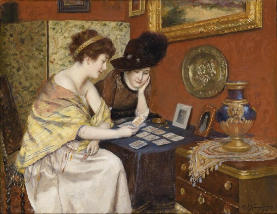 PAUL SPANGENBERG (Güstrow 1843-1918 Berlin) - What Do the Cards Say-