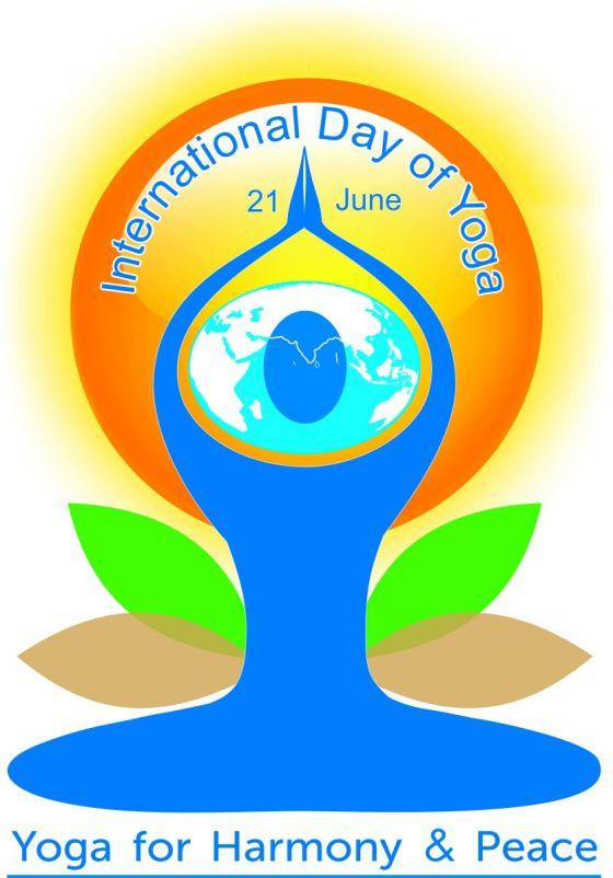 Logo della giornata internazionale dello yoga
