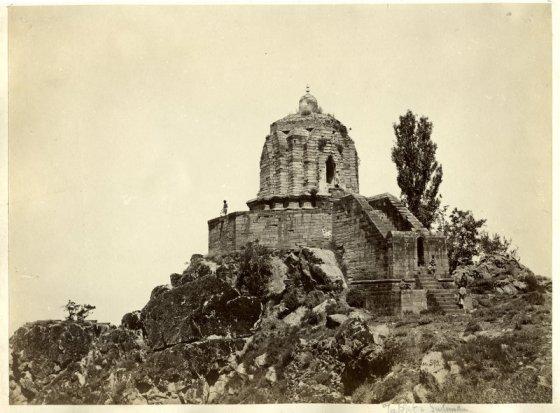 Shankaracharya Temple - Srinagar, Kashmir - c1880's