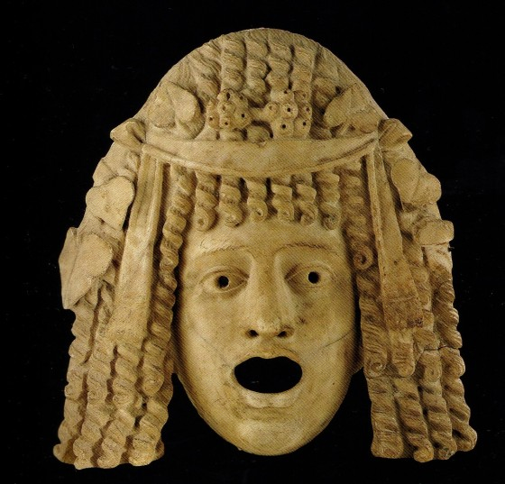Maschera teatrale in marmo, forse da Pompei - Napoli Museo Archeologico Nazionale